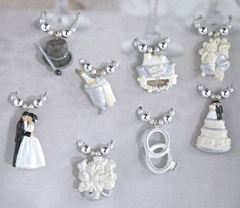 Wedding Wine Glass Charms!