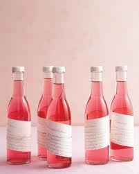 Raspberry Vodka Wedding Favor